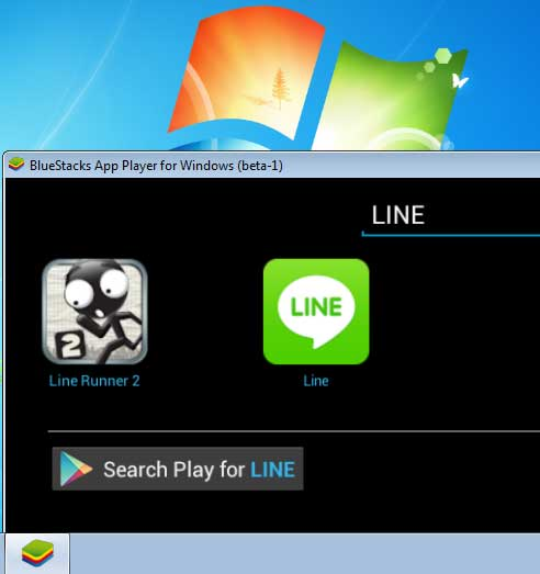 BlueStacks LINE